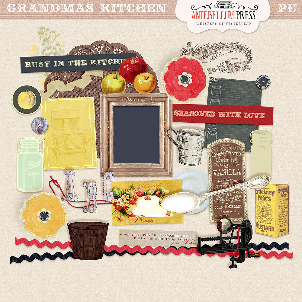 Back To Basics Kitchen: Grandma's Kitchen Scrapbooking Kit