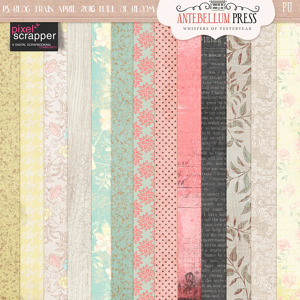 Pixel Scrapper April 2016 Blog Train Life in Full Bloom Freebie Paper Pack from Antebellum Press