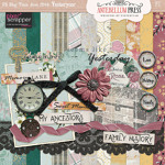 Pixel Scrapper Jun 2016 Blog Train Freebie Yesteryear Mini Kit from Antebellum Press