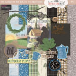 Pixel Scrapper Aug 2016 Blog Train Freebie Back to Nature Mini Kit from Antebellum Press