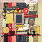 Grandma's Kitchen Digital Scrapbook Kit from Antebellum Press