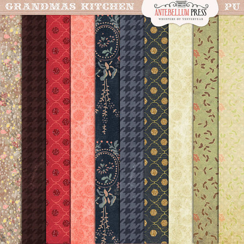 Grandma's Kitchen Paper Pack from Antebellum Press