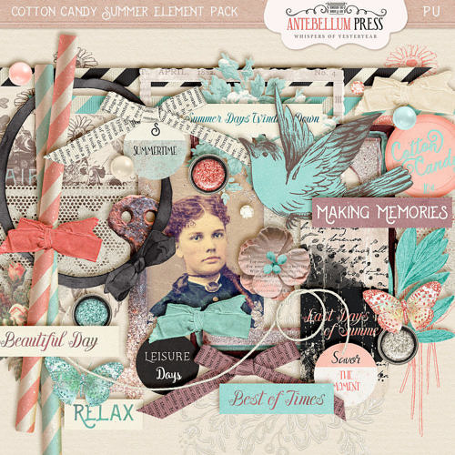 Cotton Candy Summer Element Pack from Antebellum Press