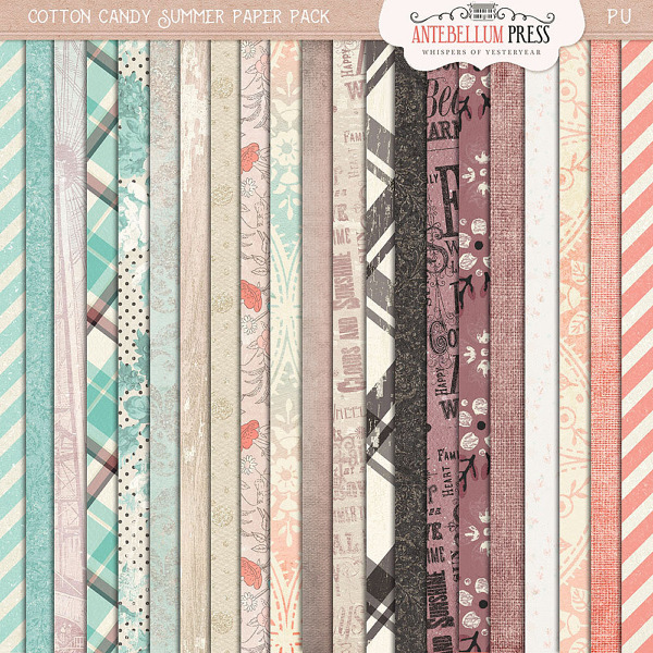 Cotton Candy Summer Paper Pack from Antebellum Press