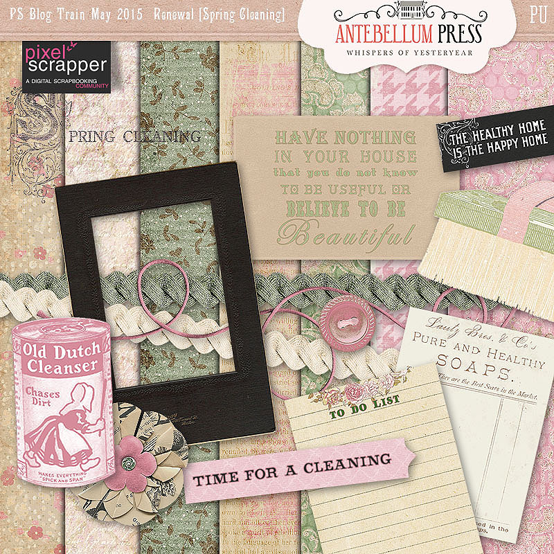 PS Blog Train Renewal Freebie Kit from Antebellum Press