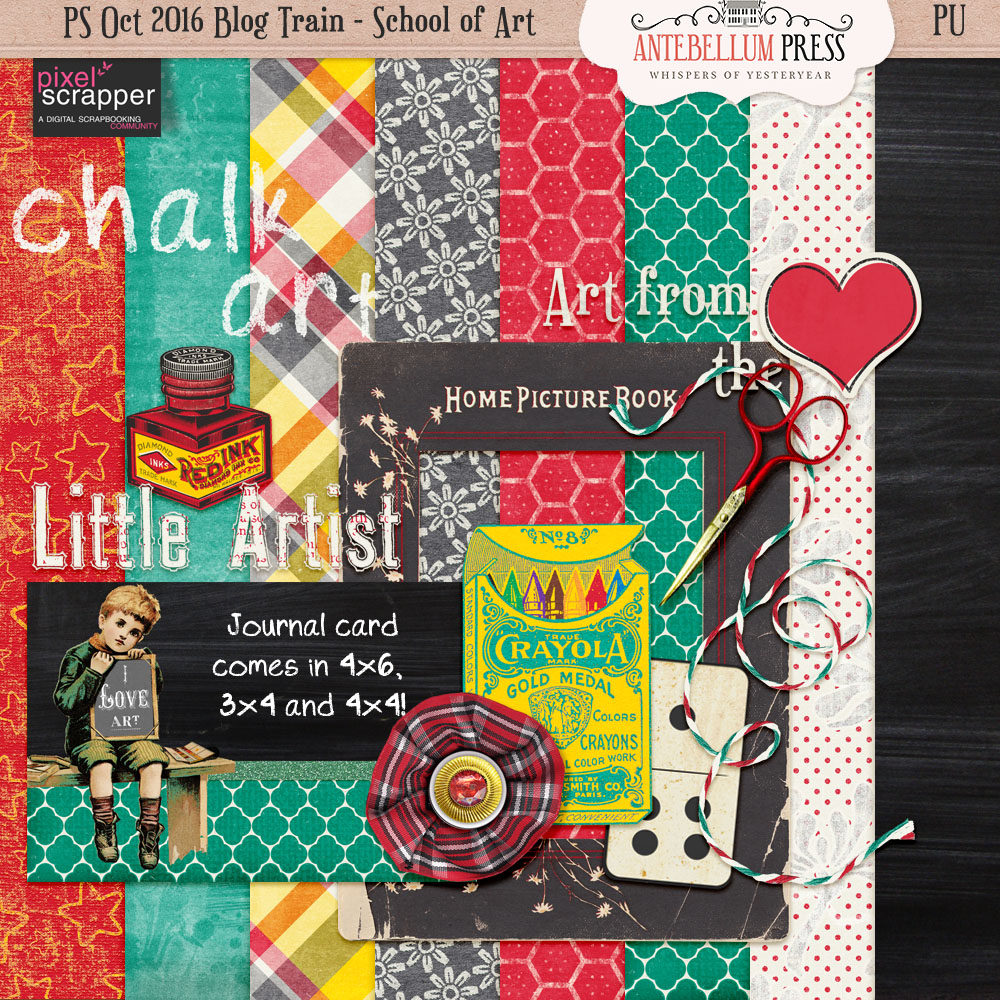 PS Blog Train School of Art Freebie Kit from Antebellum Press