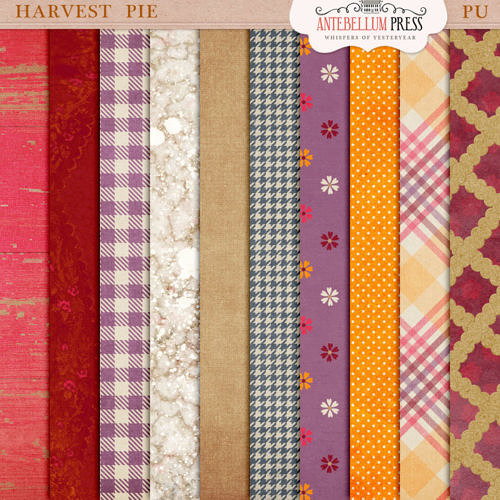Harvest Pie Kit [Papers] Freebie from Antebellum Press