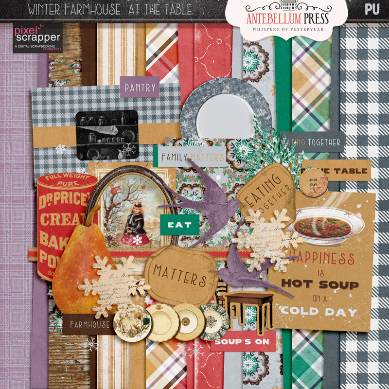Winter Farmhouse At the Table Freebie from Antebellum Press