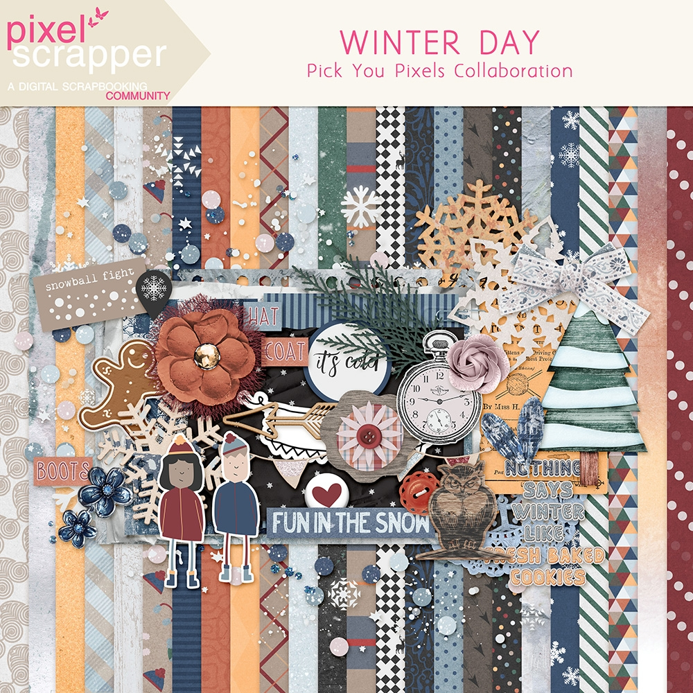 Pixelscrapper Winter Day Collaboration