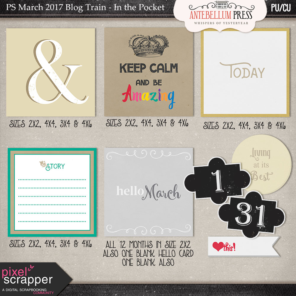 PS March 2017 In the Pocket Blog Train Freebie