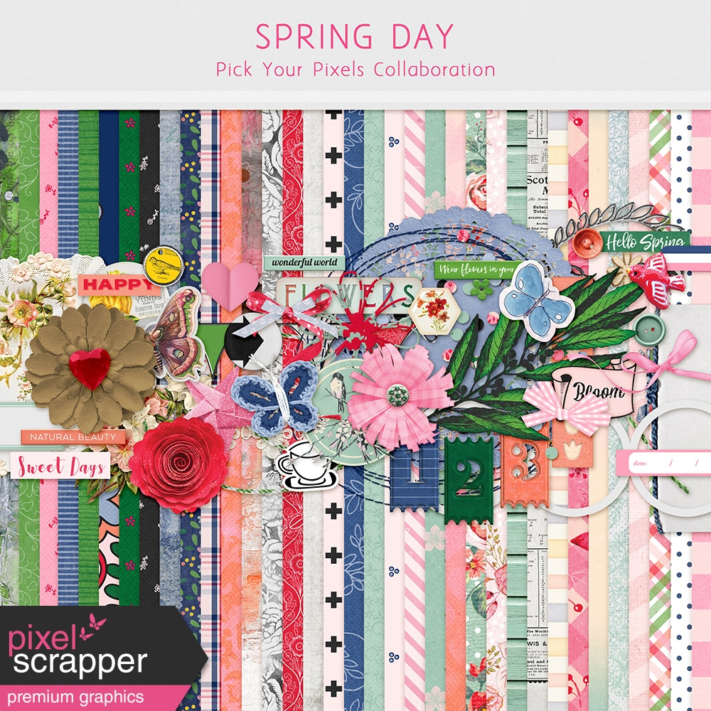 Spring Day Collaboration – March Winds April Showers and May Flowers