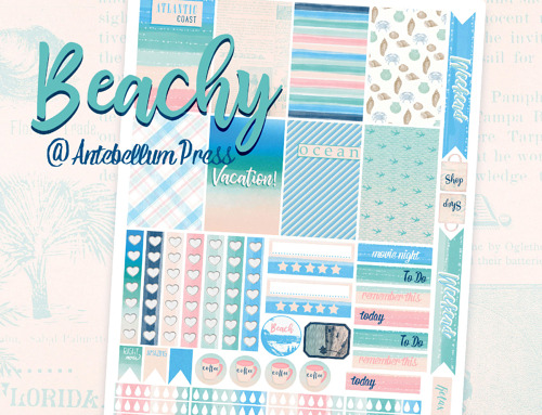 Beachy Planner Stickers Freebie