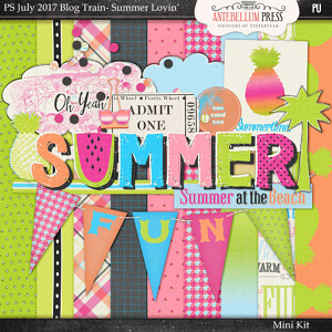 Antebellum Press - Pixelscrapper's July 2017 Summer Lovin' Blog Train Mini Kit