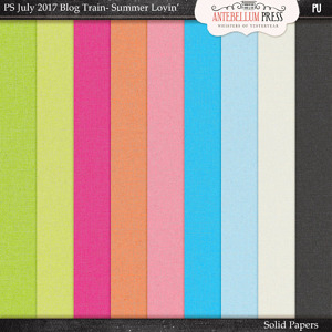 Antebellum Press - Pixelscrapper's July 2017 Summer Lovin' Blog Train Solid Papers