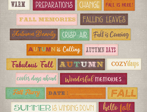Fall Flurry Word Art Freebie