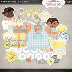 Antebellumpress Baby Shower Elements
