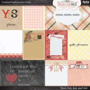 Antebellumpress Comfort Food Journal Cards