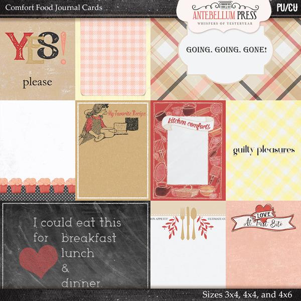Antebellumpress Comfort Food Journal Cards