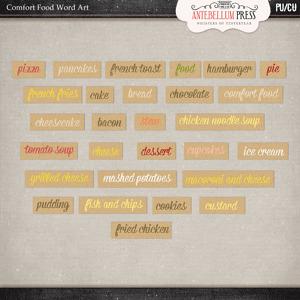 Antebellumpress Comfort Food Word Art