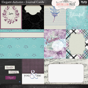 Antebellum Press Elegant Autumn Journal Cards