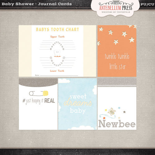 Antebellumpress Baby Shower Journal Cards