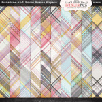 Antebellumpress Sunshine and Snow Plaid Papers