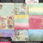 PSMay2018 Blog Train - Flower Power Blended Papers @ Antebellumpress