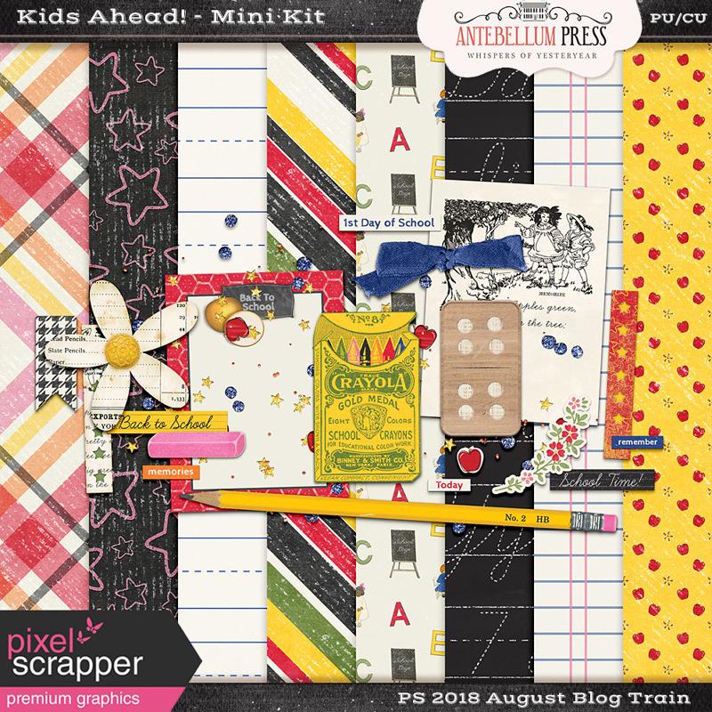 PSAug2018 Blog Train - Kids Ahead Mini Kit @ Antebellumpress