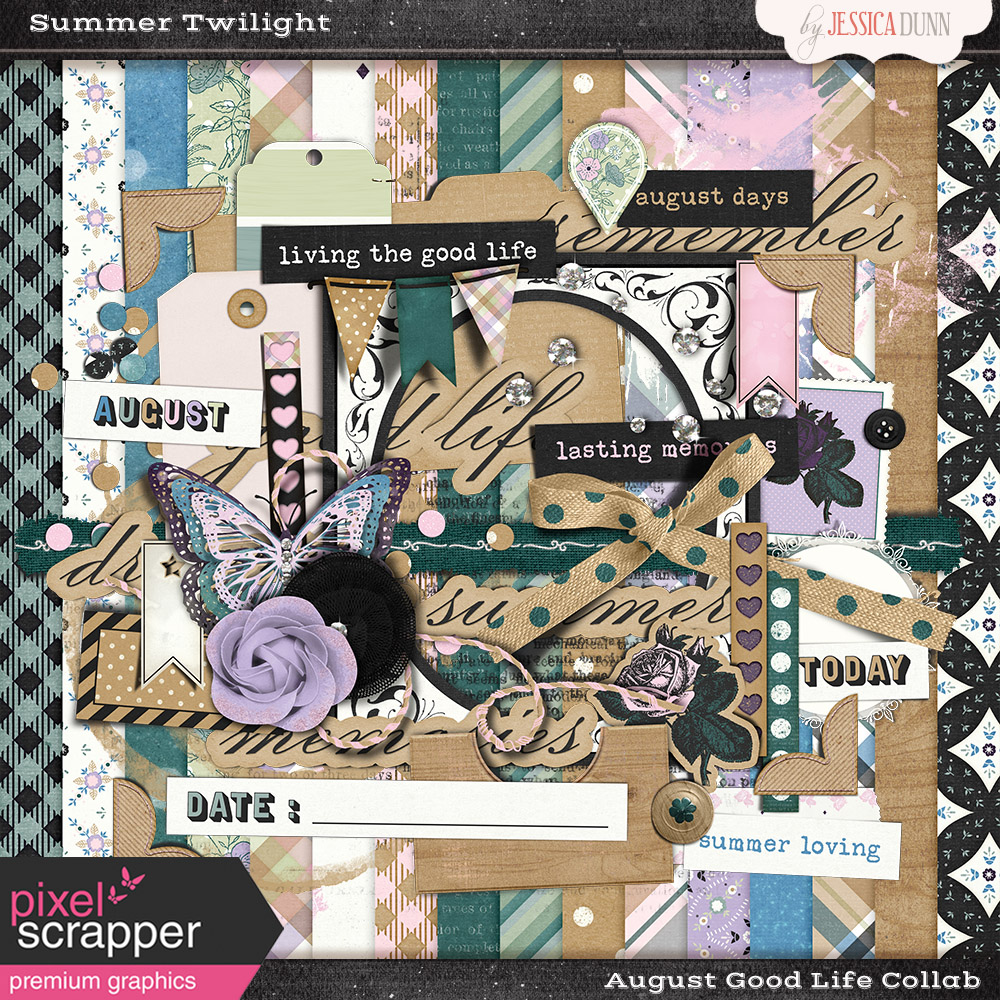 August Good Life Collab - Summer Twilight @ Pixel Scrapper